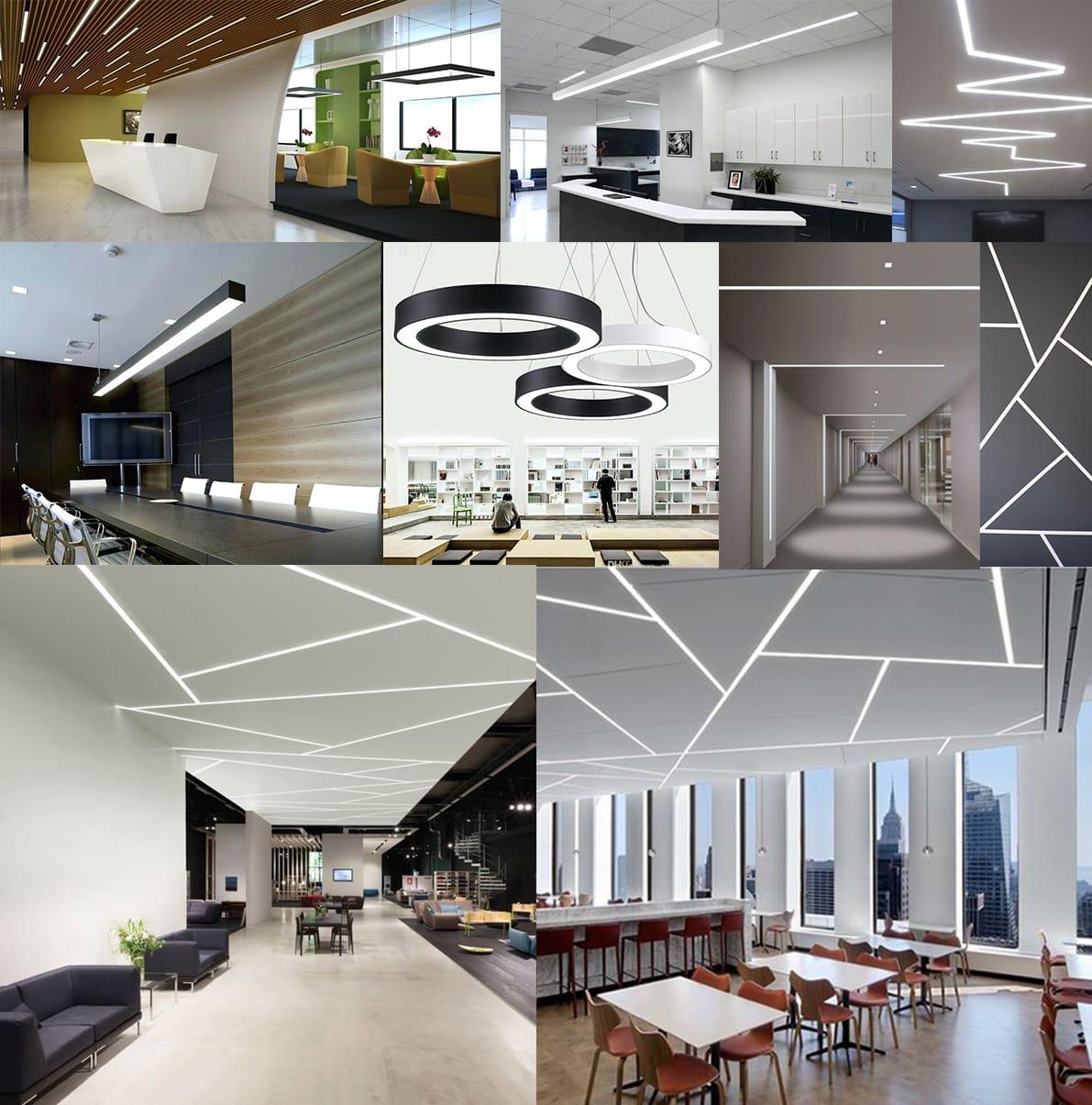 RHEA LED Linear Office Lights