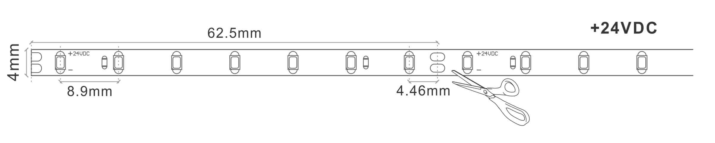 Super Slim 4MM LED Tape Strip Light