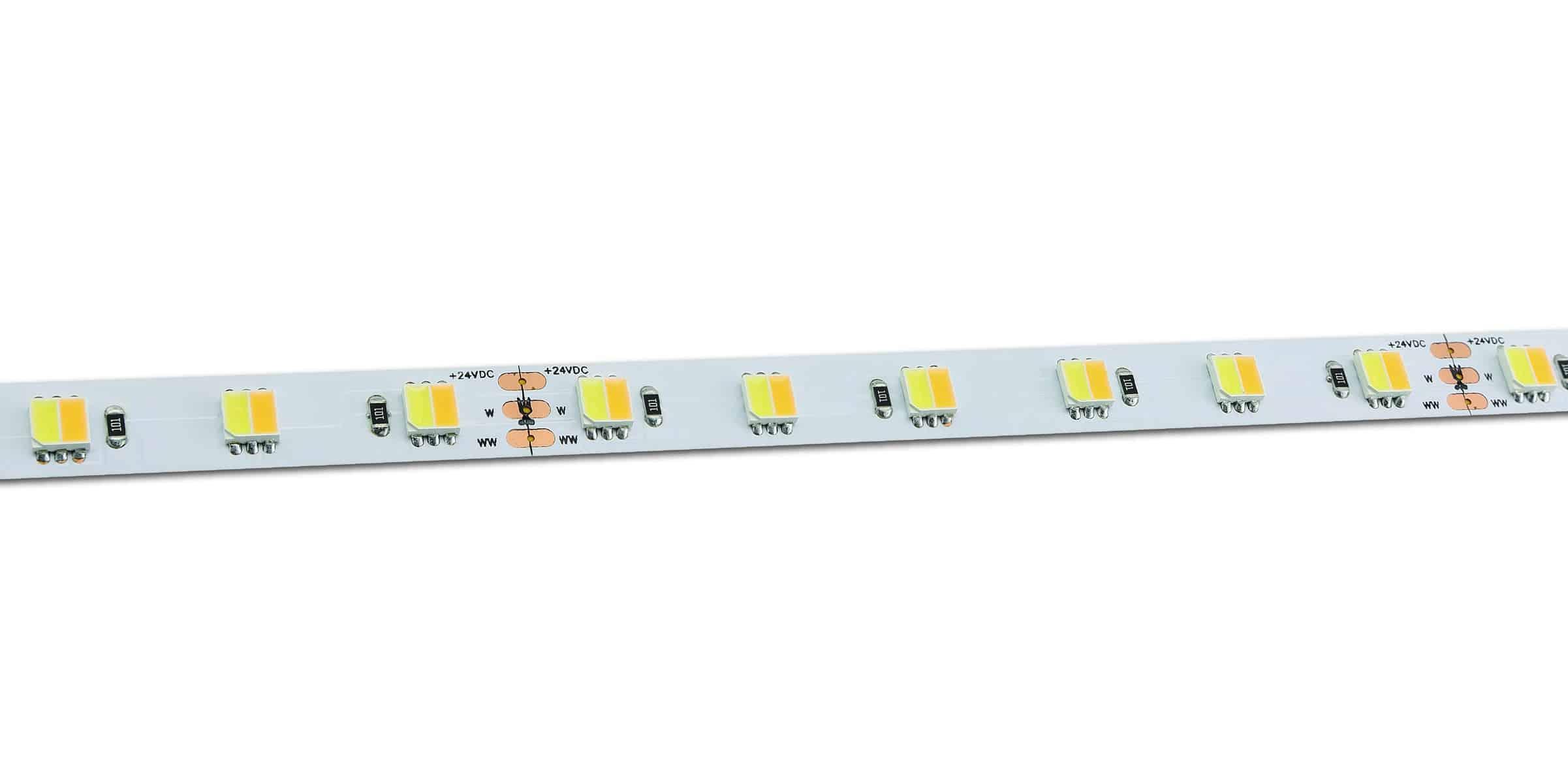 Warm White to White LED Tape Strip Light
