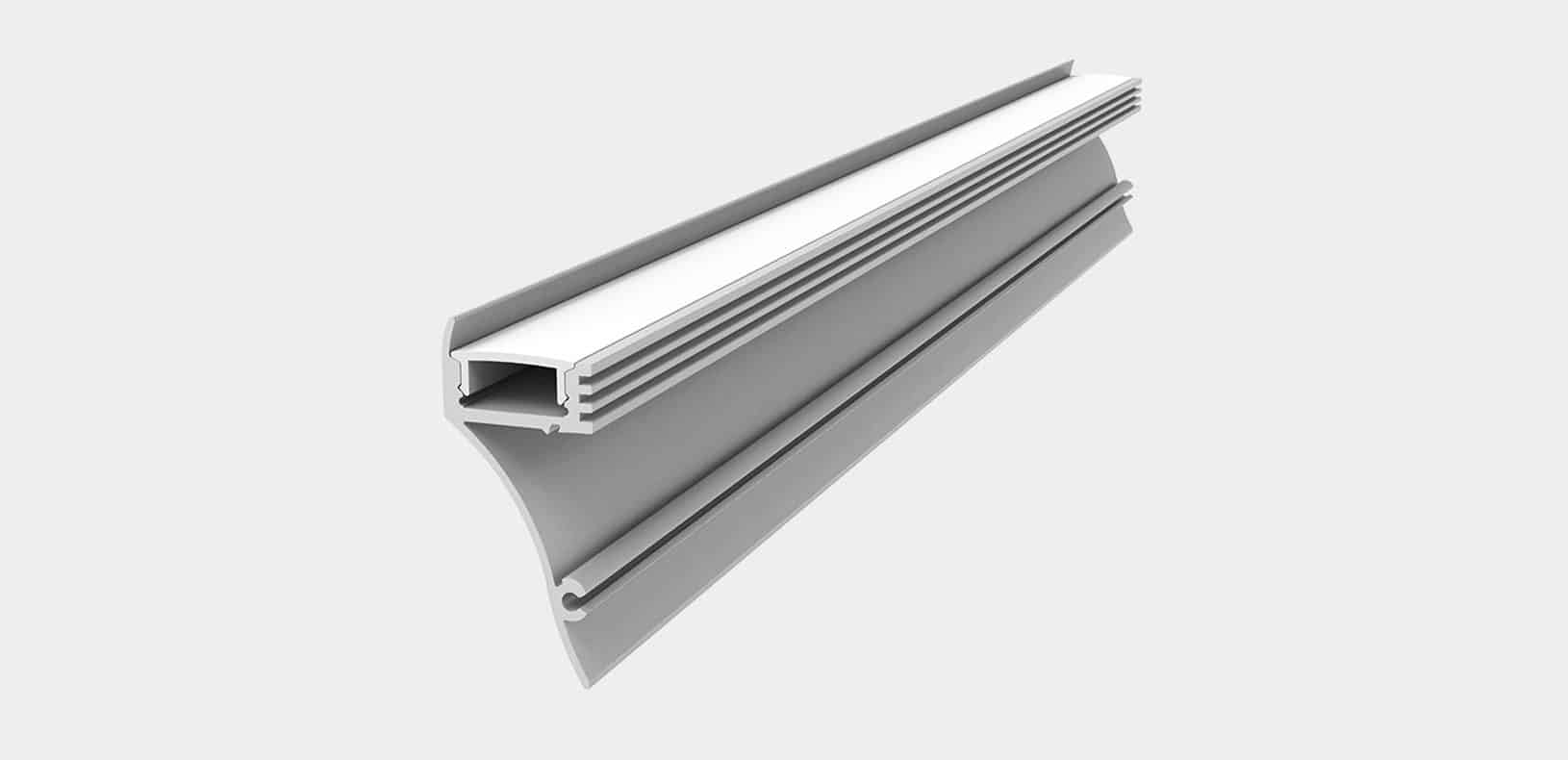 LED Aluminium Profile - Skirting Profile - LP4020