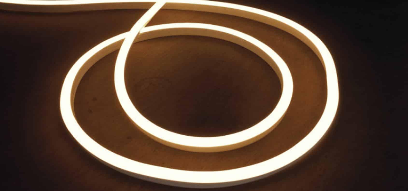 Neon Flex 270⁰, Upto 510LM/m output, >60mm bend radius, Swimming pool applications, IP68 & IK08 rating