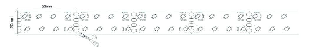 Multi-row 20mm strip v1