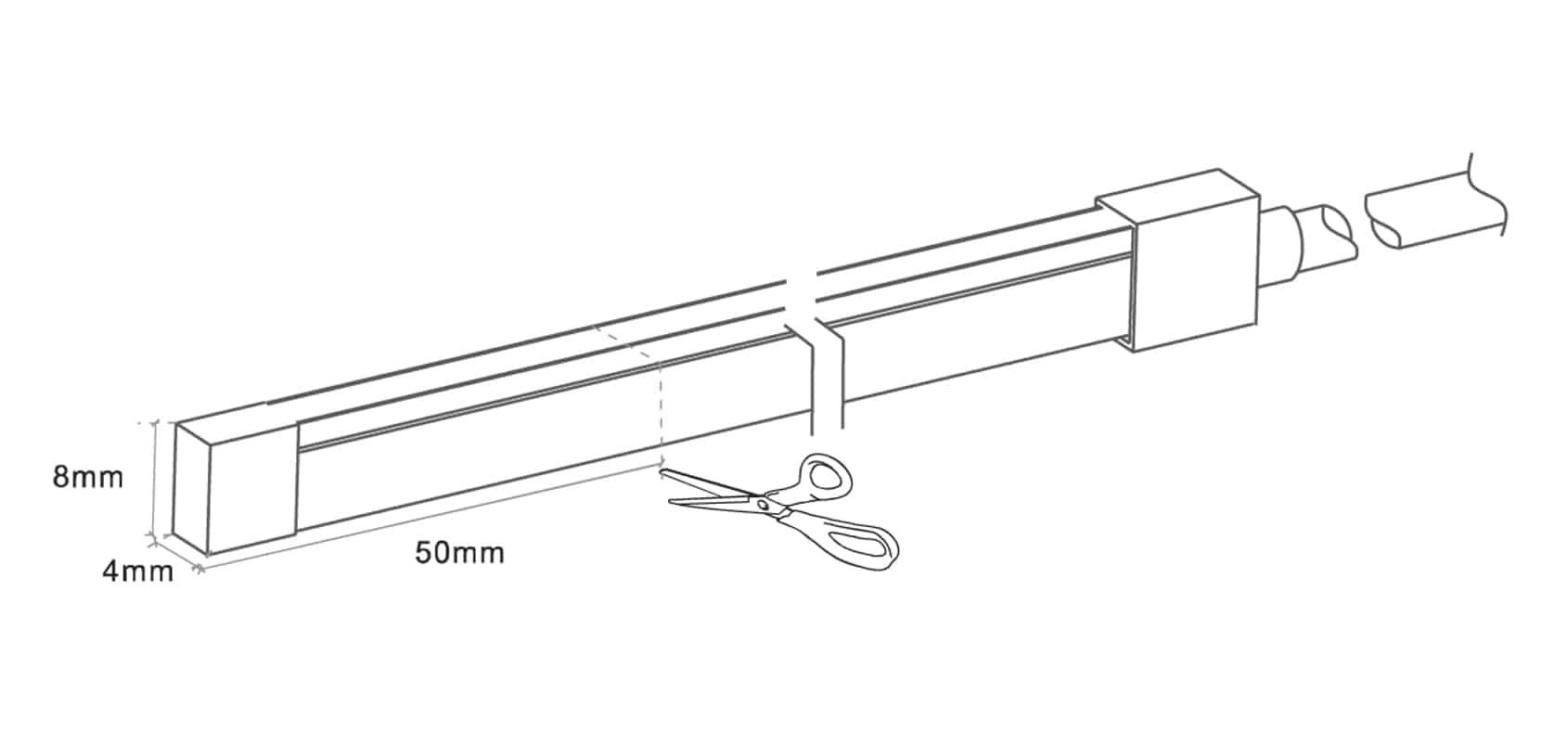 Neon-Flex-Side Bend - 4x8mm - Dia