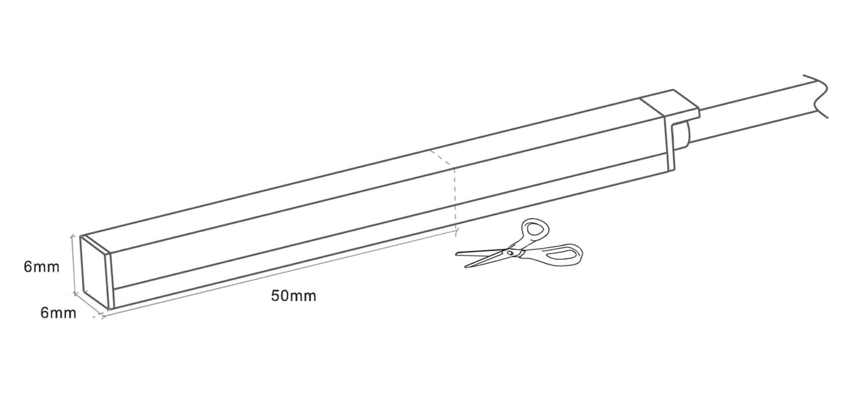 Neon-Flex-Slim Top Bend - 6x6mm - Single color - Dia