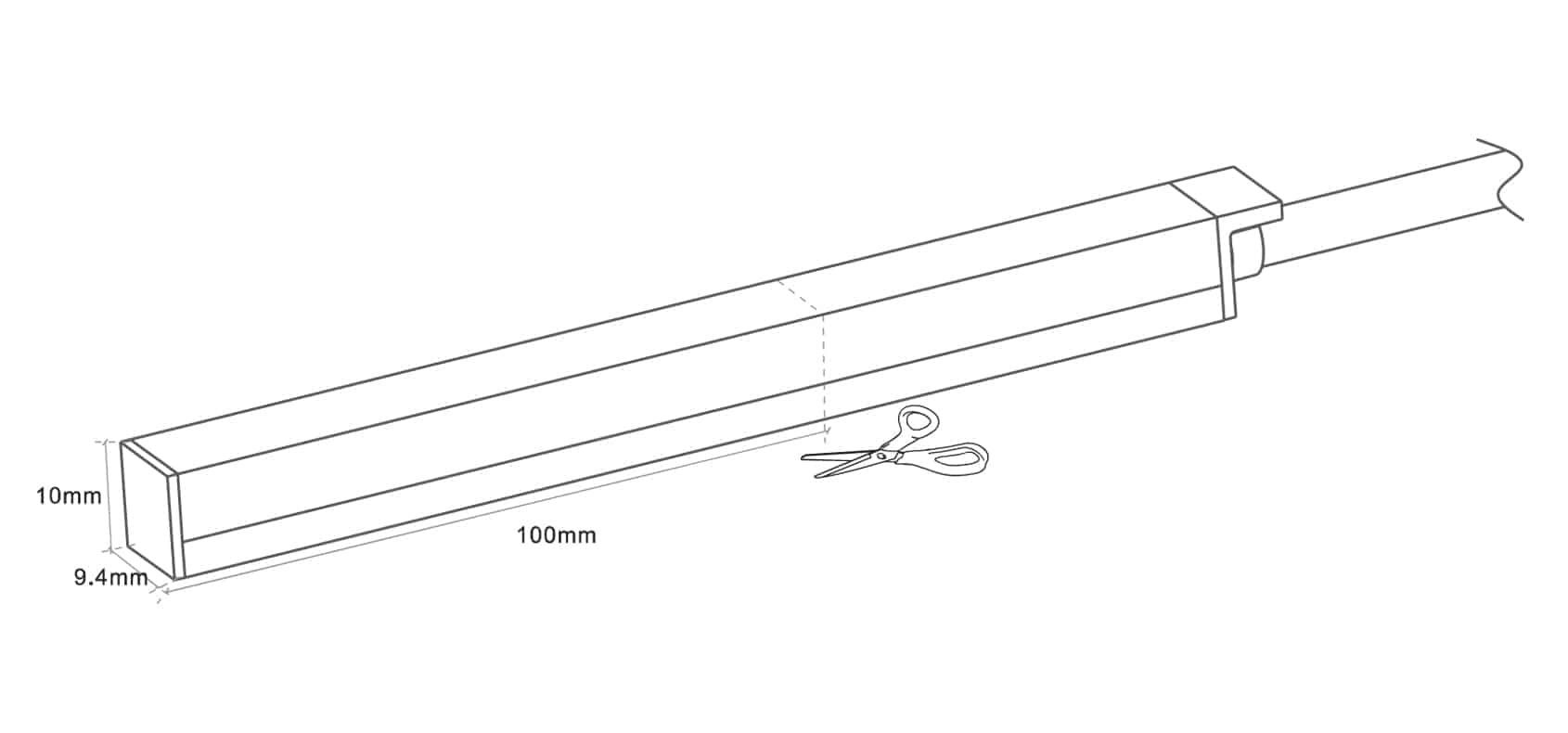 Neon-Flex-Slim Top Bend - 9.4x10mm - Single color - Dia