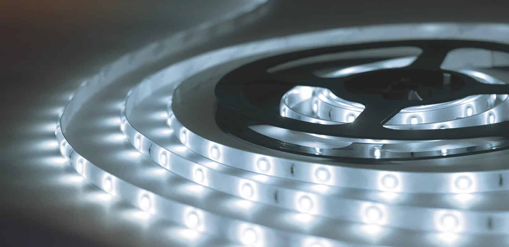 SMD5050 LED Strip Lights for high-end lighting projects. CCT 1800-6500K to RGB & RGBWWW, 5-40W/mtr, 120⁰ Beam Angle & high efficiency